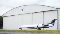 90 metre span hangar for Inflite Limited, Stanstead Airport, UK.