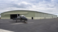 55 metre span hangar for Royal Air Force, Valley Airport, Anglesey UK.