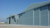 Two 42 metre span hangars for Chilian Air Force, Fuerza Aerea del Chile