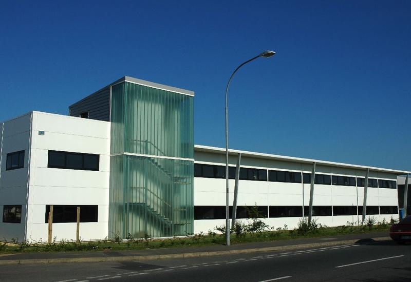 Metal front elevation on commercial building joy studio for Metal building office plans