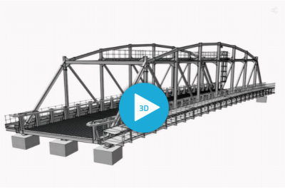Interserve Bridge - 3D steel bridge model