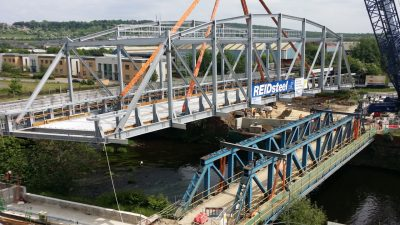 interserve bridge swings over existing bridge