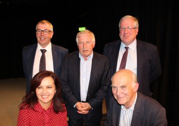 BREXIT: REIDsteel Managing Director Simon Boyd appeared on Any Questions. He is pictured back left with Jonathan Dimbleby centre and Conservative party chairman Sir Patrick Sir Patrick McLoughlin back right. Front left is Labour MP Caroline Flint and front right is Lib Dem leader Sir Vince Cable