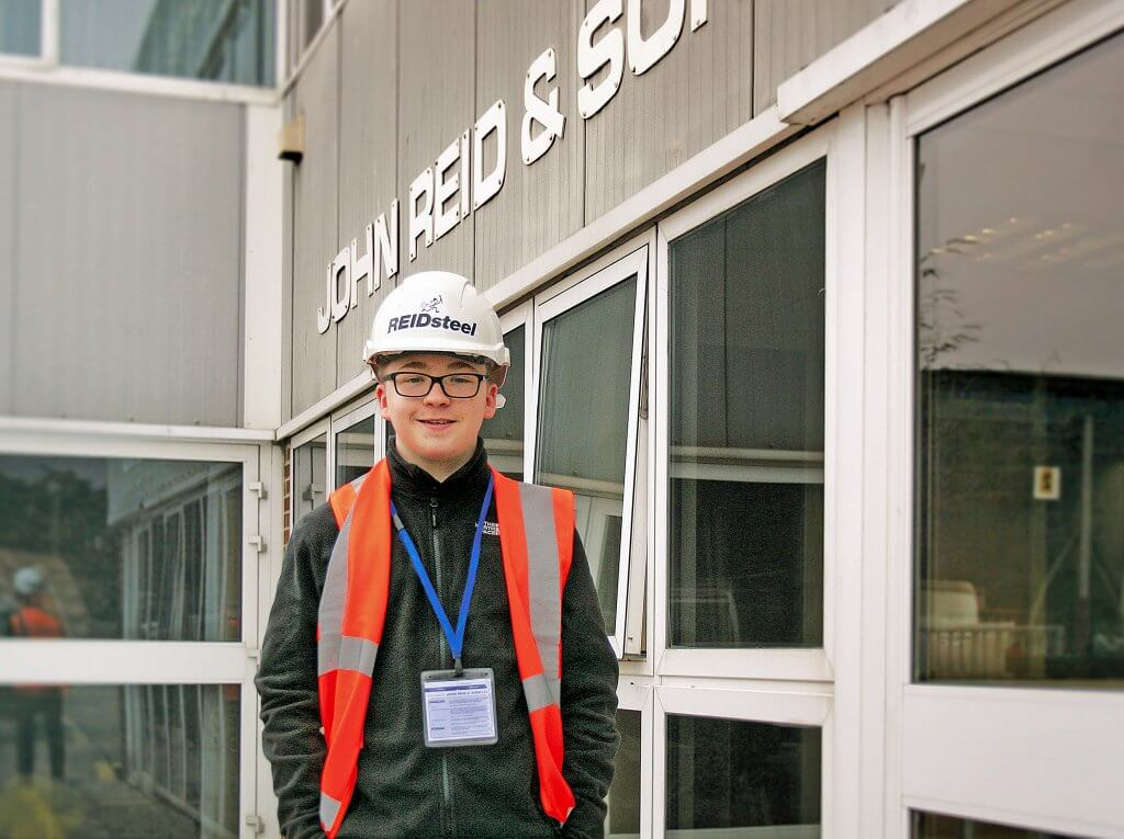 Samuel, REIDsteel, steel, construction, building, structural steel, work experience, apprentice, apprenticeships, cladding, glazing,