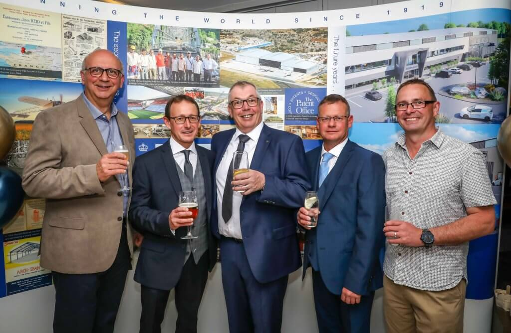 Reid Steel 100th anniversary celebration at The Captain's Club Hotel in Christchurch. Directors from left, Tim Cook, Tim Reid, Managing director Simon Boyd, Peter Reid and Richard Hanson